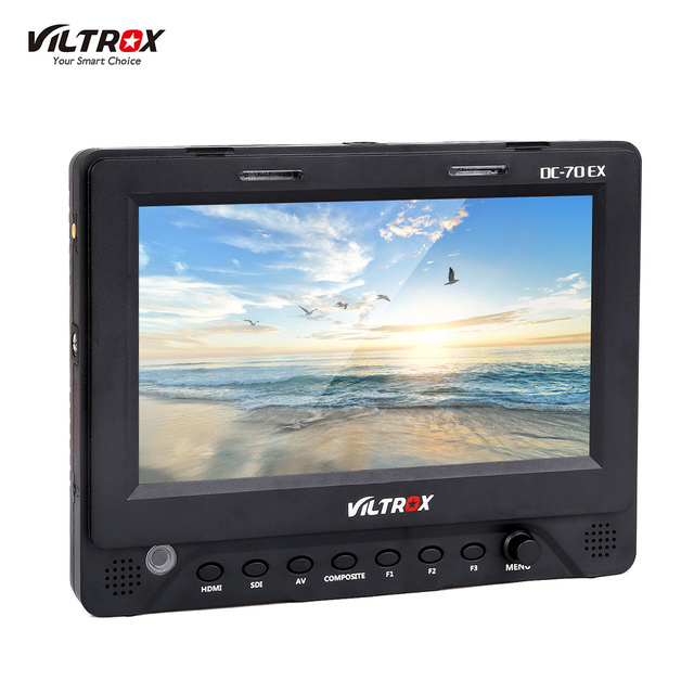 Viltrox DC 70EX 4K 7 Inch HD Clip on Camera Video LCD Monitor for Multimedia for Canon Nikon Sony Pentax Olympus DSLR Cameras