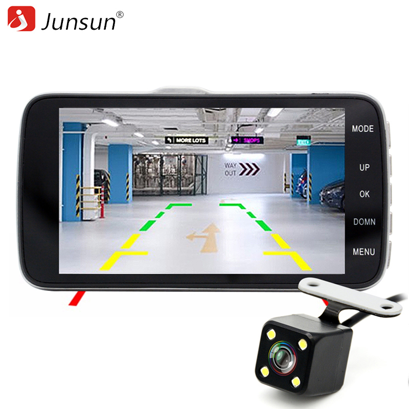 Junsun H7 Car DVR Camera Dual Lens IPS 4.0 Full HD 1296P Video Recorder Registrator Night Vision Car Camcorder DVRs Dash Cam junsun car dvr camera video recorder wifi app manipulation full hd 1080p novatek 96655 imx 322 dash cam registrator black box