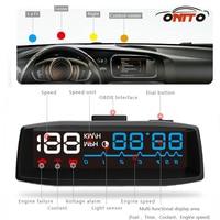Sıcak satış Iç Aydınlatma 4F Head UP Display Projektör Güç Anahtarı ile OBDII EUOBD Kablolu Arayüz
