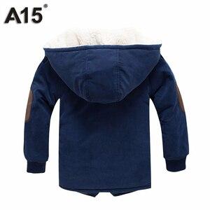 Image 3 - ילדי מעילי חורף ומעילי סתיו Jacket עבור בנים עם ברדס חם מעיילים קטיפה כותנה מעילים בגדי ילדים גיל 4 6 8 10 12 שנה