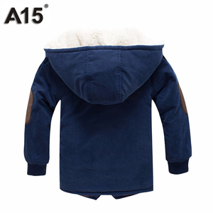 Image 3 - Kids Winter Jackets and Coats Fall Jacket for Boys Parkas Warm Hooded Velvet Cotton Coats Children Clothing Age 4 6 8 10 12 Year