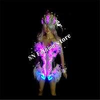 YS001 сексуальные свет костюмы певица Бальные платья одежда/Бар партия носит цвет косплей этап подиум модель диско DJ бюстгальтер