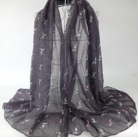 Характер лошадь печати шарф длинный Для женщин шаль вискоза Обёрточная бумага дамы Шарфы для женщин мусульманский хиджаб