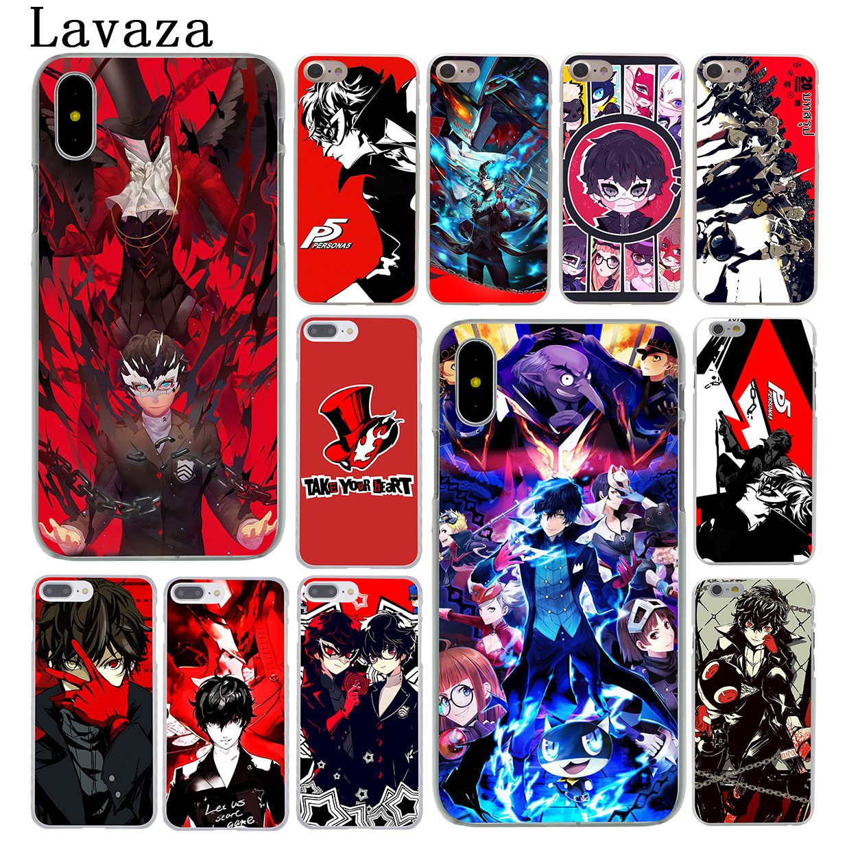 Lavaza p5 P Persona 5 Hard Coque Shell Phone Case for Apple iPhone X 10 8 7 6 6s Plus 5  ...