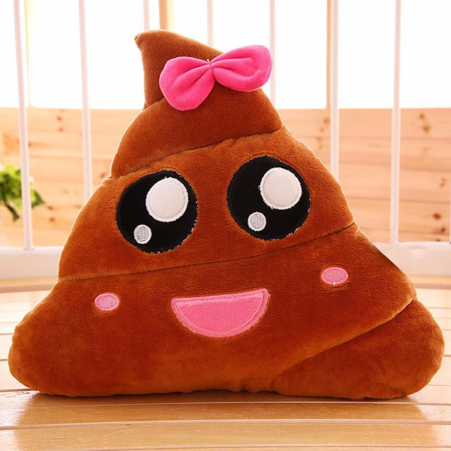 2017 Smile Color Dots Amusing Emoji Emoticon Cushion Heart Eyes Poo Shape Pillow Doll Toy Gift Camouflage Design #A