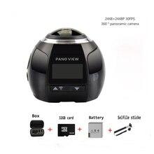 HD WIFI Camera 360 Mini Video Camera Panorama 4k 2448*2448 30FPS Waterproof Sport VR Camcorder+1200mAh battery
