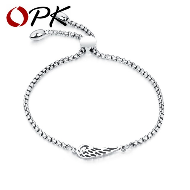 OPK Bohemia Feather Bracelet For Women Rose Gold Gold White Color