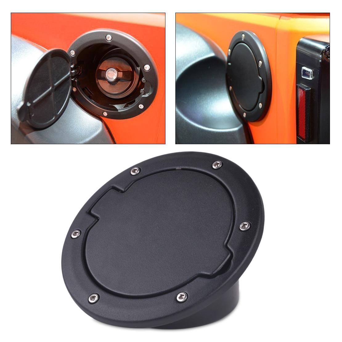 Dwcx car black fuel filler cover gas tank cap for jeep wrangler jk rubicon sahara