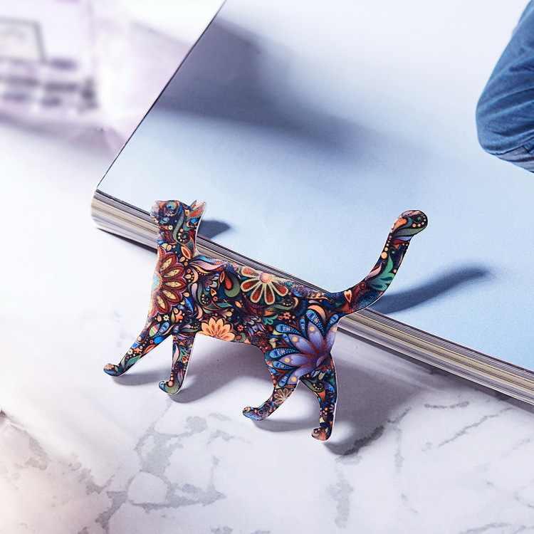 Cute Cat Spilli Animale Acrilico Spille per Le Donne Spilla Collare Dei Monili Dello Smalto Spille Regali Di Natale per Le Donne Broche Bts Risvolto spille