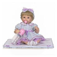 Nouveau silicone reborn baby poupée mignon toys réaliste 40 cm reborn bébés belle fille poupée enfants enfant cadeau d'anniversaire fille bébé boneca