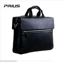 PRIUS New Fashion Cowhide Men Bag Leather Men Handbag Casual Men Business Briefcase Multi-purpose Computer Bag