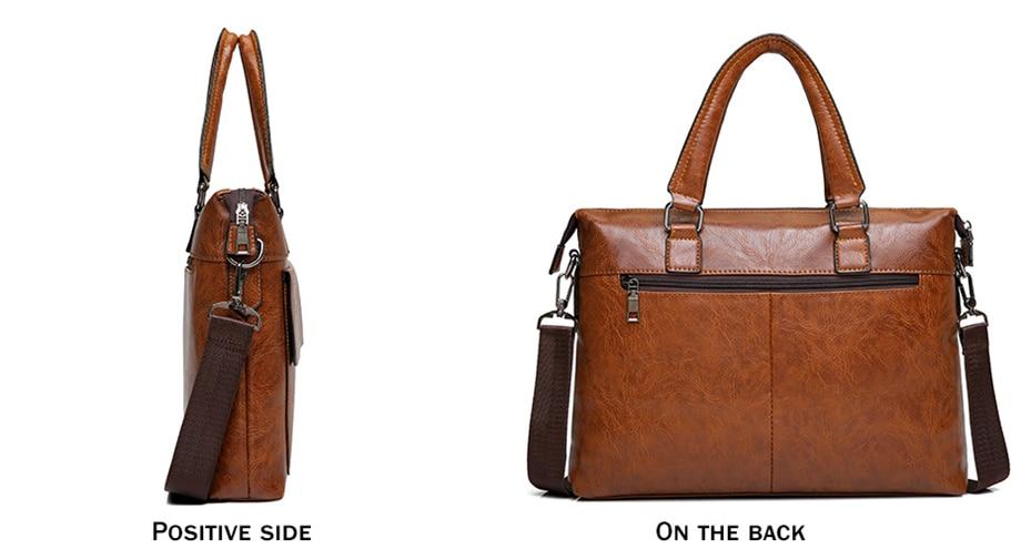 HTB1AnkTeCSD3KVjSZFKq6z10VXae Famous Designer JEEP BULUO Brands Men Business Briefcase PU Leather Shoulder Bags For 13 Inch Laptop Bag big Travel Handbag 6013