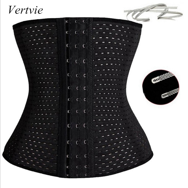 vertvie Women Sexy Waist Trainer Belt Corsets Steel Bone Slim Female Corselet Waist Support Corsage Modeling Strap Body Shaper
