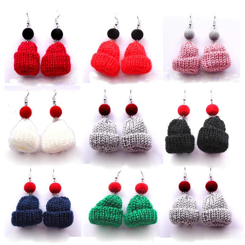 Hot Koop Leuke Ontwerp Hoed Oorbellen Herfst En Winter Lange Sectie Bont Bal Oorbellen Voor Vrouwen Kerst Sieraden