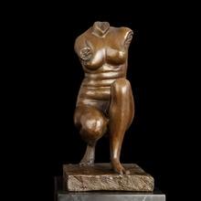 Famous Feminine Torso ventre font b sculpture b font Bust Bronze Figurines tronc vientre marble font