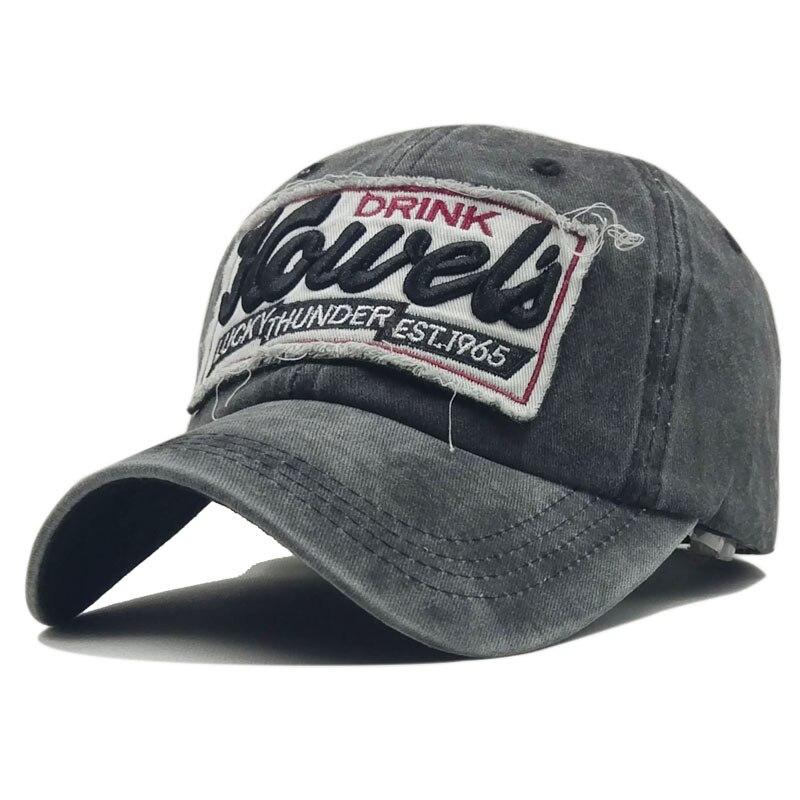 Rebelde negro lavado Denim mujeres gorra de béisbol marca el papá Bone  sombreros para hombres Hip hop Gorras moda bordado Vintage sombrero caps en  Gorras de ... 9a58181dc44