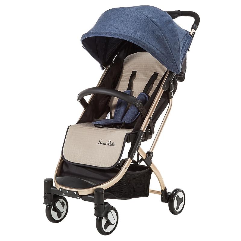 Babyfond 5.9kg Light Baby Sroller Umbrella stroller Can Sit And Fold Two-way Four-wheel Shock  Aluminum Alloy Frame Baby Pram