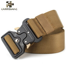 Military Tactical Quick Zinc Alloy Buckle Belt Nylon Multi Purpose Wear Versatile Belt 3 Colors Military Equipment Accessories(China)