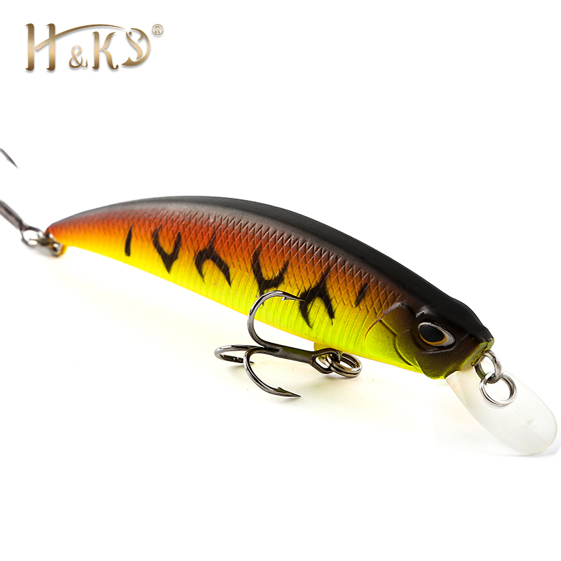 H&K Retail Professional Suspend JERKBAIT SHANKS Fishing Lure 70mm 9.5g Wobbler Minnow Depth 0-1.5m Bass Pike Bait Lure HK034 allblue 2018 professional suspend jerkbait shanks 130sp fishing lure 130mm 21 5g wobbler minnow depth 1 5 2m bass pike bait lure