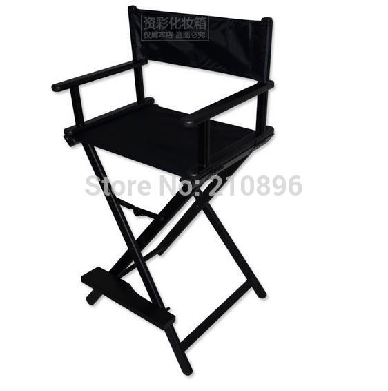 Aluminum Directors Chair Adjustable Chairs With Wheels Director Portable Foldable Nylon Fabric Frame Salon Makeup