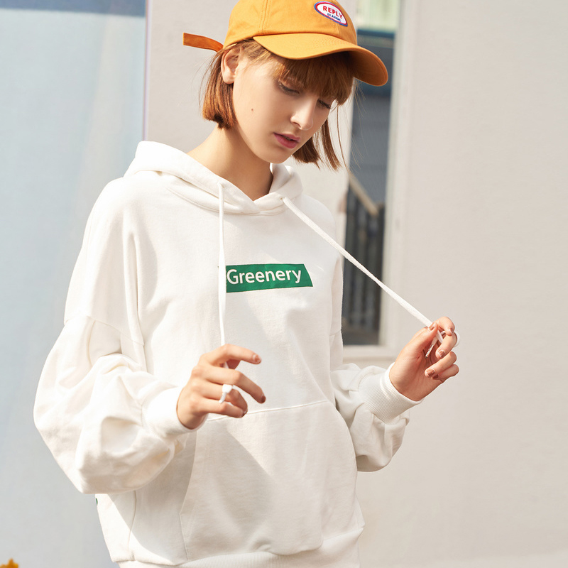 Toyouth 2019 Women Spring Sweatshirt Casual Plant Print Loose Long Sleeve New Arrival Female Fashion Pullovers