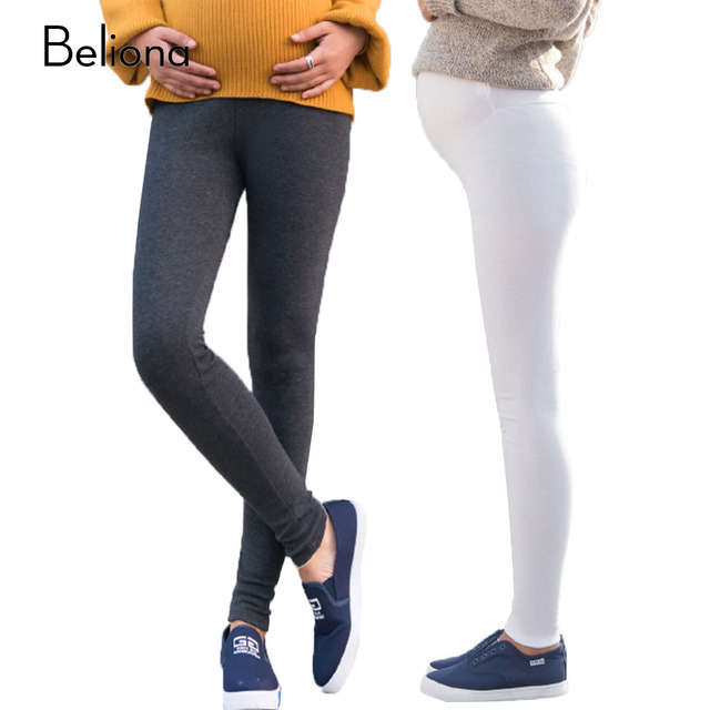 790fe07ece5f5 Fashion Spring Slim Maternity Leggings for Pregnant Women Stretch Slim  Pregnancy Legging Pants Comfortable Maternity Clothes