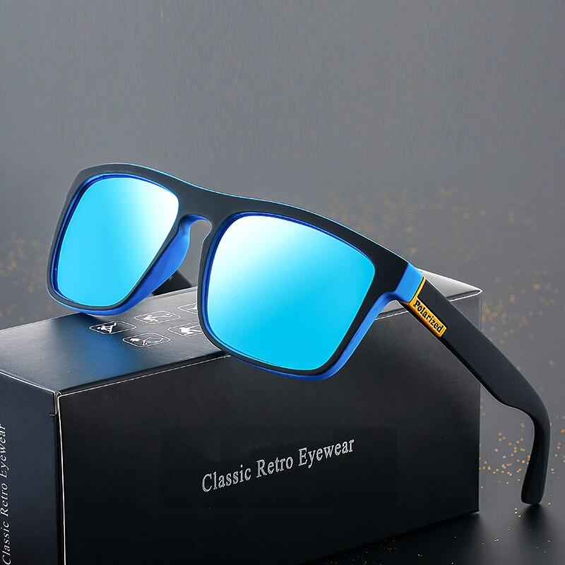 ASOUZ 2019 Fashion Polarized Men's Sunglasses Classic Retro Brand Design Square Ladies Glasses UV400 Large Frame Driving Goggles
