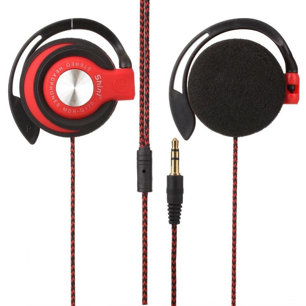 1.1 M Portátil 3.5mm Auriculares Con Cable Auricular Clip On Ear Auriculares Del Deporte Gancho Auricular Para Mp3 Teléfono Móvil