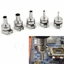 5Pcs/set Universal Meatal Heat Gun Resisting Nozzles Hot Air Guns Silver for 45x24mm