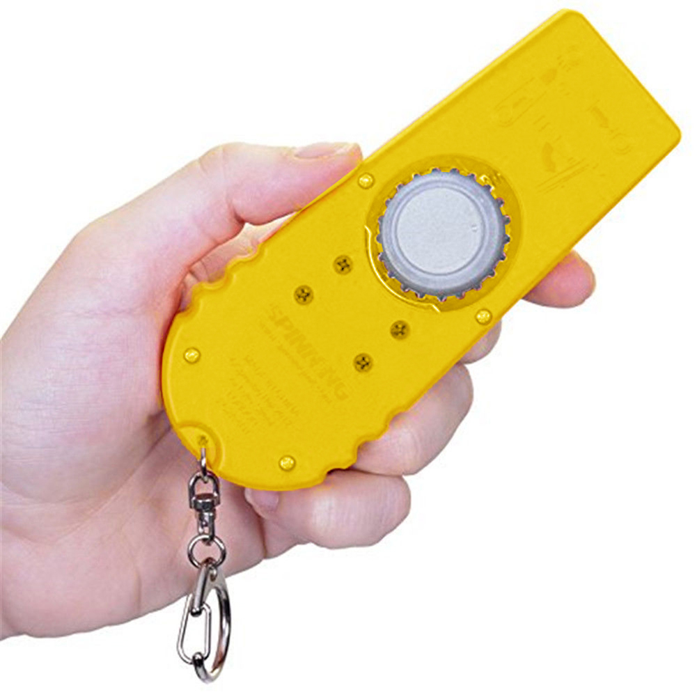 ABS Spinning Cap Zappa Bottle Top Shooter Opener Launcher with Key Ring