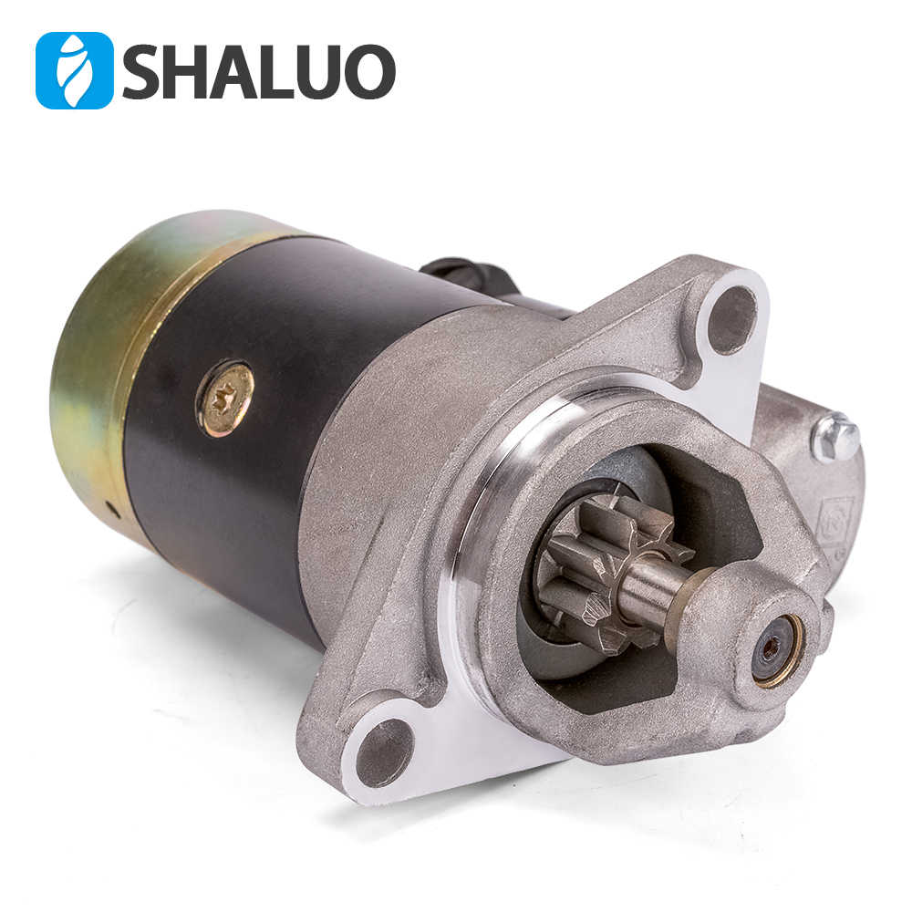 QD124A 12 فولت 1.2KW بداية أجزاء المحرك محرك البدء الالكتروني عدة النحاس صنع يناسب 186F 188F 192F مولد المحرك المحرك المحرك