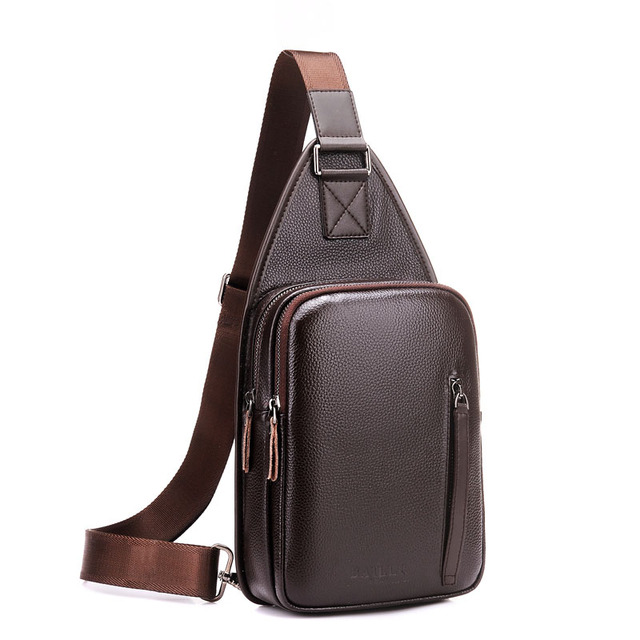 business mens shoulder bags small chest pack male leather travel bags  cigarette mobile pouch sling crossbody 29ff3040d9