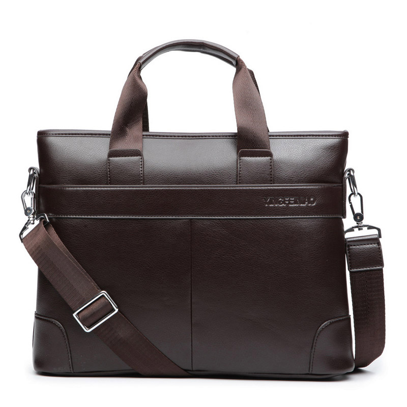 High Quality Shoulder Bag Men Briefcase Leather Business Travel Laptop Tote Bag Black Men Bag Messenger Bag Male