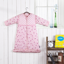Four seasons child sleeping bag baby 100% cotton winter thin lengthen thickening