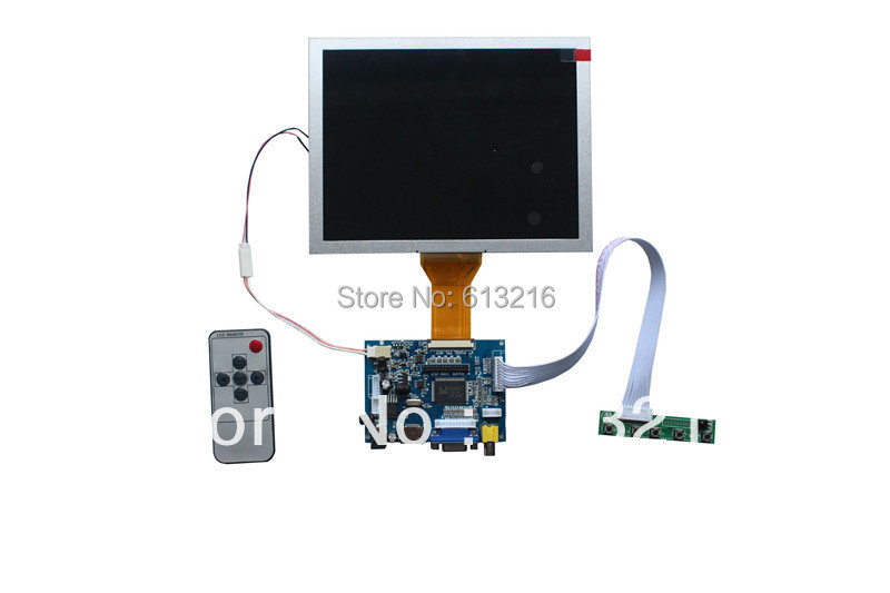 HDMI+VGA +AV  TFT LCD controller  board +OSD keypad with cable +Remote control with receive+EJ080NA-05A with 800*600 cs3310 remote preamplifier board with vfd display 4 way input hifi preamp remote control digital volume control board