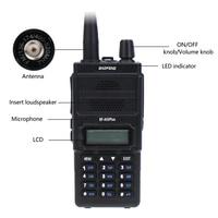 מכשיר הקשר dual band ניו Baofeng BF-A55 פלוס מכשיר הקשר Dual Band VHF / UHF 136-174 / 400-520MHz 8W לשדר כוח 128CH ציד CB Ham Radio סורק (3)