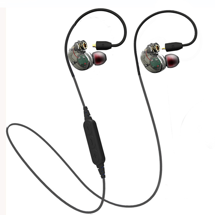 2017 Detachable Sport Wireless Bluetooth Earphone Pluggable Headphones 2 Cables Sweatproof Stereo Super Bass Headset for phone
