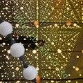 50mm 6 leds 360 graus 20 bolas/string 3D bola de pixel levou fonte de luz