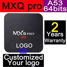 1pcs MXQpro Custom Made Amlogic S905X Quad core Smart Android6.0 LIVE TV Streaming Box 1GB DDR 8GB ROM 1200+ live tv 1000+ VOD