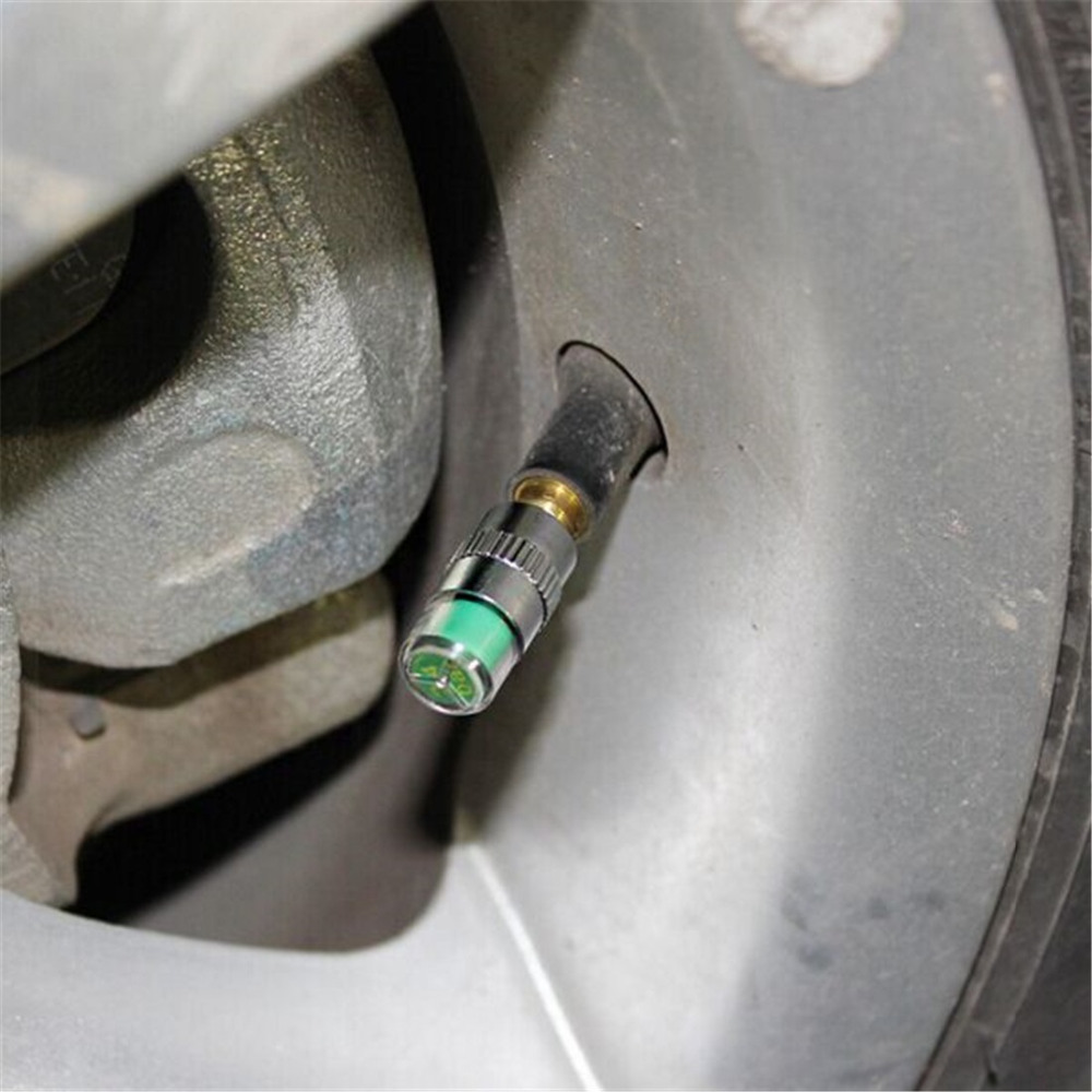 Diagnostic Tools 4 PCS/Set 2.4Bar Car Tire Pressure Monitor Valve Stem Cap