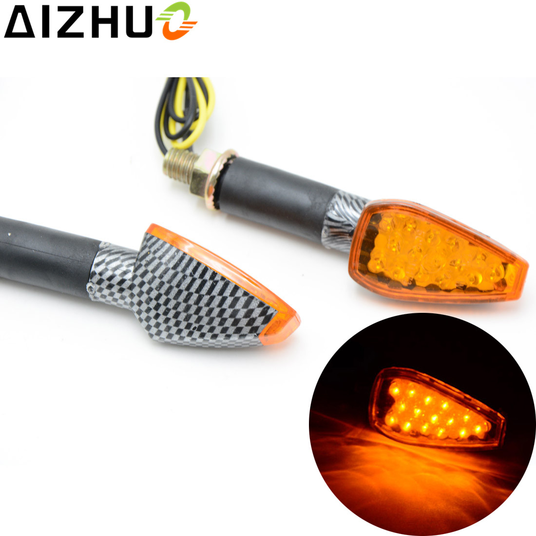12v Led Blinker Us 7 97 16 Off Amber Blue Universal Motorcycle Turn Signal Light 12v Led Blinker Lamp For Bmw F800r F650gs F700gs F800gs S1000r G310r R1200gs On