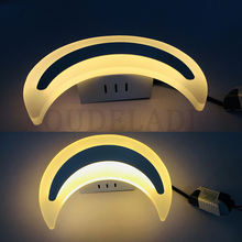 Crescent Moon Wall Light LED Modern Minimalist Acrylic Light