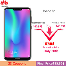 Original Huawe Honor 8C 3 Slots Face ID 6.26 inch Snapdragon 632 Octa Core Front 8.0MP Dual Rear Camera 4000mAh(China)