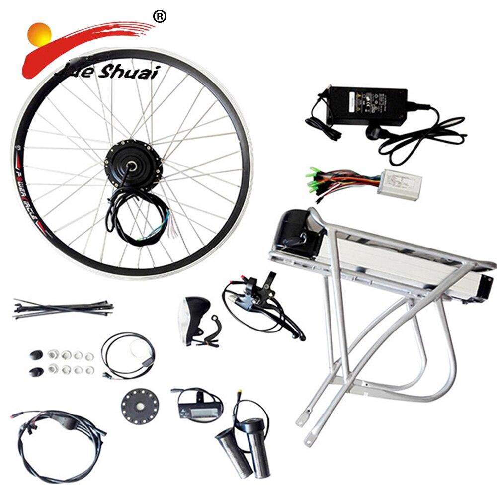 48 v/36 v Puissant Vélo Électrique E Vélo Kit de Conversion EBike Kit avec Batterie Vélo Électrique Kit Chine porte-Bagages arrière Batterie LED