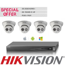 HIK 4CH 1080P HDMI P2P POE NVR Surveillance System Video Output 4PCS 4.0MP IP Camera Home Security CCTV Camera Kits