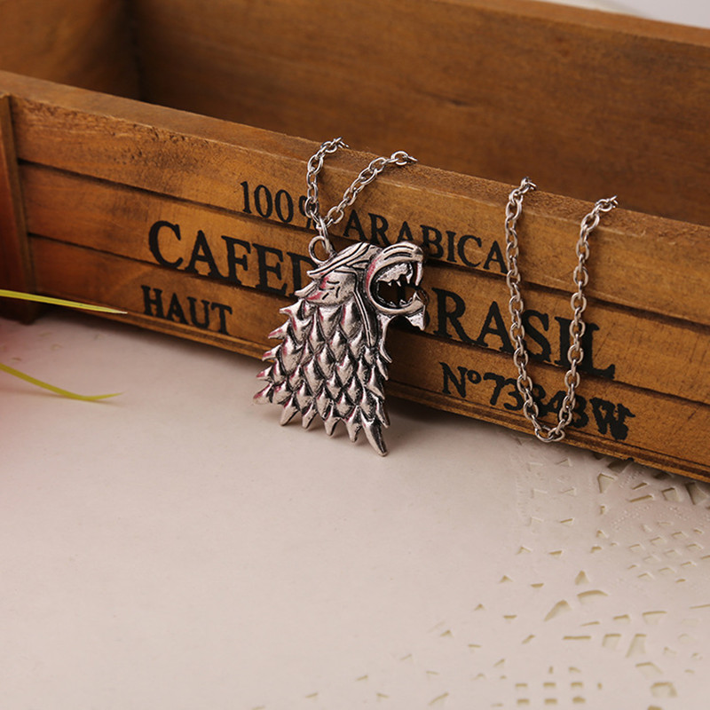 Timeless classic Game of Thrones House Stark of Winterfell Necklace dragonlord Pendant Jewelry Winter is Coming ...