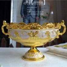 Модная качественная Роскошная модная домашняя тарелка с фруктами ktv, конфетная тарелка, блюдо в европейском стиле