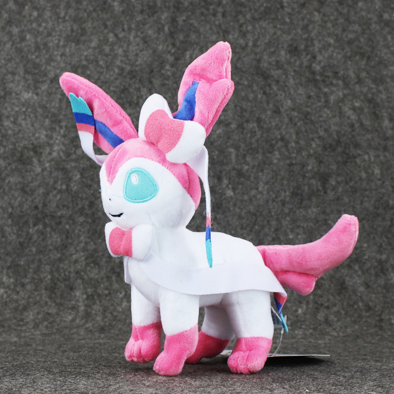 Hot Anime 9 23cm Eevee Sylveon Plush Soft Toy Stuffed Doll Great Gift Kids Brinquedos