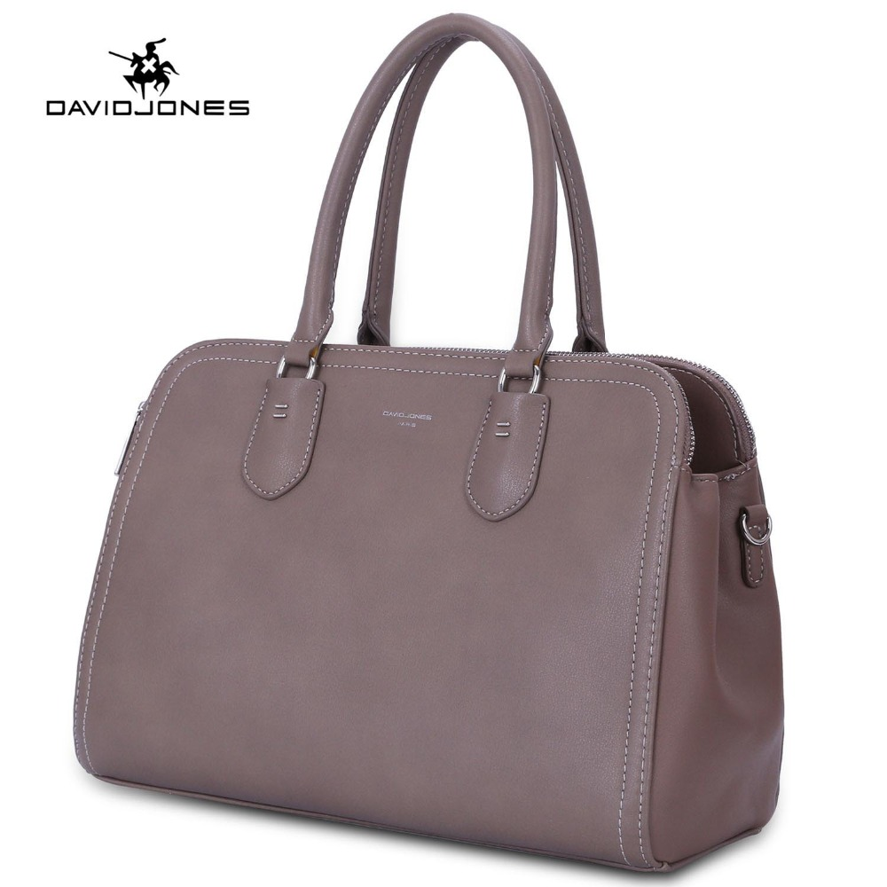 DAVIDJONES women handbag faux leather female shoulder bags big lady solid crossbody bag girl tote bag briefcase drop shipping цена