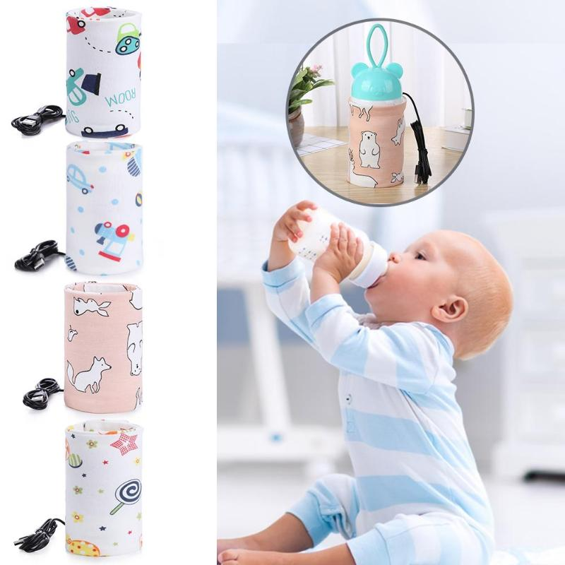 USB Milk Water Warmer Travel Stroller Insulated Bag Baby Nursing Bottle Heater Newborn Infant Portable Bottle Feeding Warmers